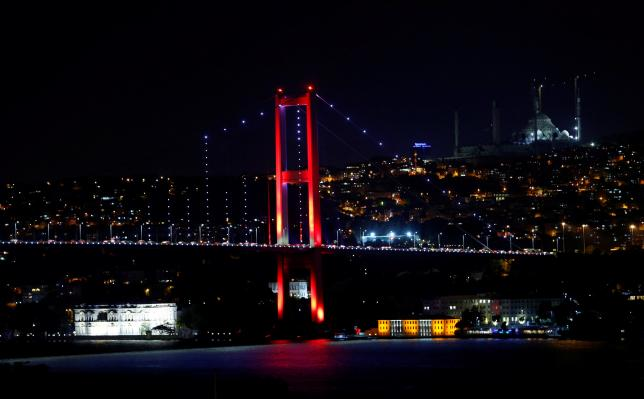 Bosphorus bridge, which links the city's European and Asian sides, is pictured in Istanbul